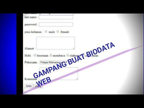 Cara Buat BIODATA Di SUBLIME TEXT3 Html Gampang Banget/coding/html
