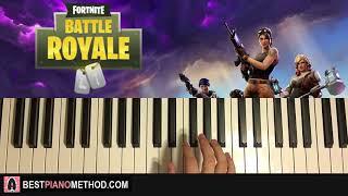 HOW TO PLAY - Fortnite Battle Royale - Season 3 Menu Music (Piano Tutorial Lesson)