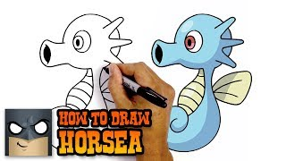 How to Draw Horsea | Pokemon | Awesome Step-by-Step Tutorial