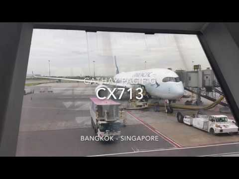 Cathay Pacific Airbus A350-900 XWB Business Class Flight Experience: CX713 Bangkok to Singapore