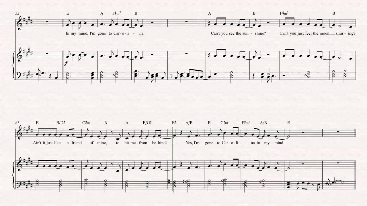 Trumpet carolina in my mind james taylor sheet music chords trumpet carolina in my mind james taylor sheet music chords vocals hexwebz Image collections
