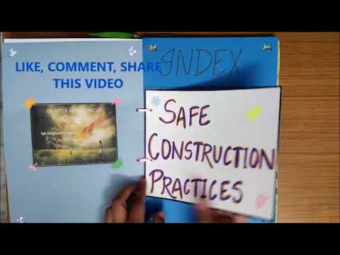 CLASS 10 SOCIAL STUDIES PROJECT (SAFE CONSTRUCTION PRACTICES)WITH SIMPLE AND EASY DECORATION