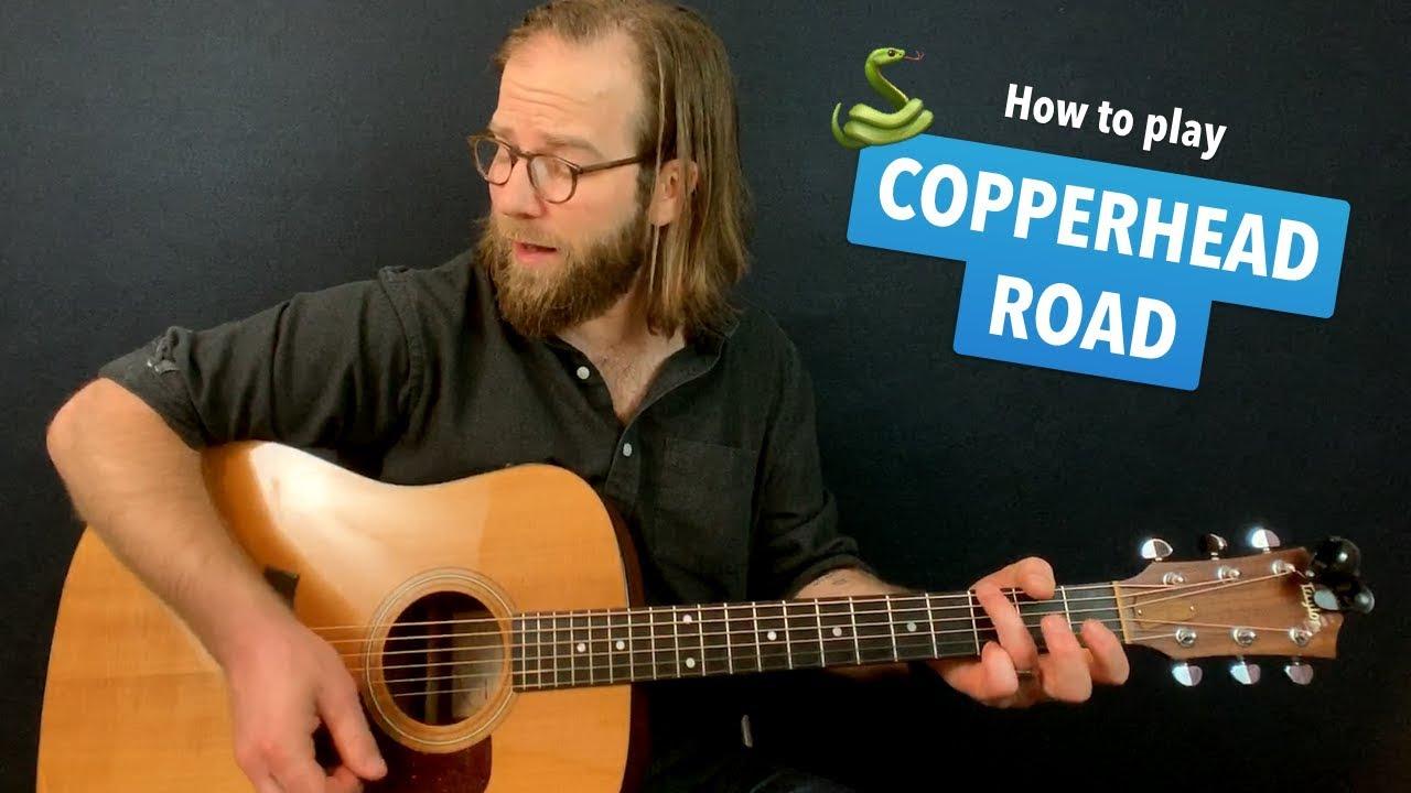 🎸 Copperhead Road • Steve Earle guitar lesson w/ intro tab & chords