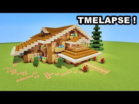 Comment Faire Une Maison En Bois Sur Minecraft Timelapse Youtube