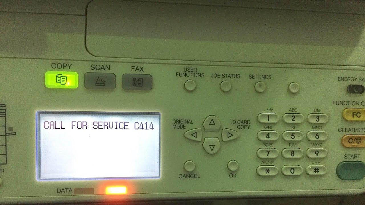 Toshiba eStudio 2007, 2306, 2506 error code c414 reset