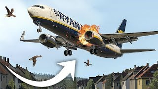 Terrifying Moments as Both Engines Failed on Approach to Rome | Ryanair Flight 4102