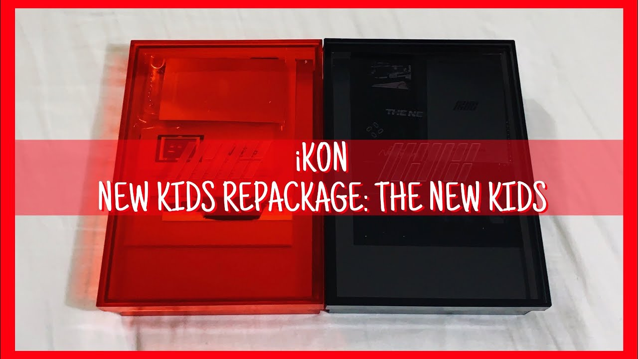 [UNBOXING] iKON 아이콘 'NEW KIDS: THE NEW KIDS' 1st Repackage Album - (Red and  Black Versions)