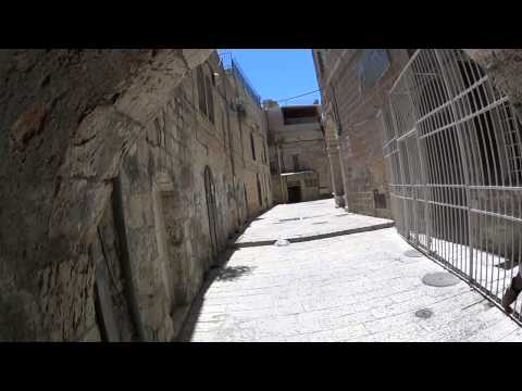 Walking in the streets of the Christian Quarter of the Old City of Jerusalem