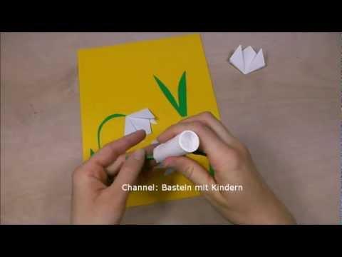 Schneeglöckchen basteln - Basteln im Frühling - DIY Muttertagsgeschenk - Muttertag