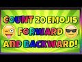 Count to 20 Forward and Backward With Emojis! PRE-K and KINDERGARTEN COUNTING VIDEO