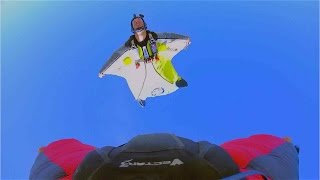 Wingsuit 4-cross race final round - Red Bull Aces 2014