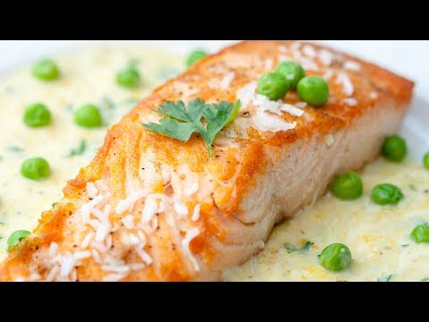 How To Make Salmon Steak In Coconut Milk With Peas