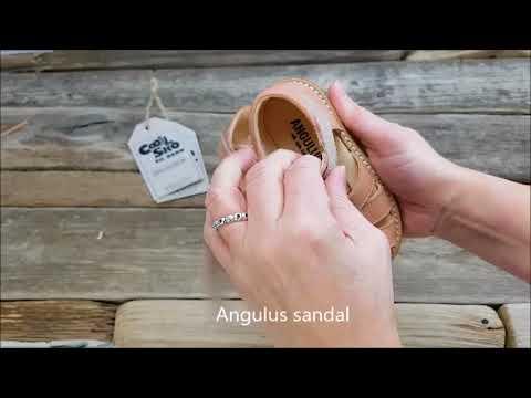 8c6e35d1ea3 Angulus - Begyndersandal (smal) - Støvet fersken