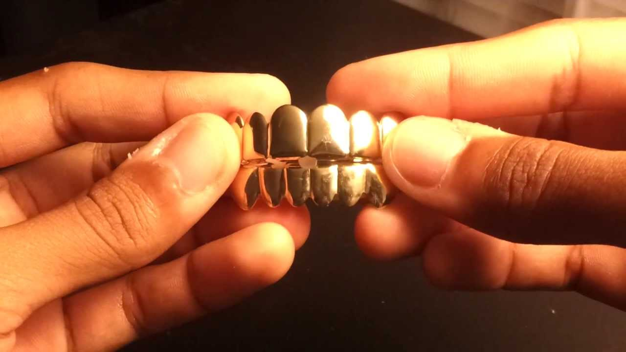 High-Quality 14K Gold Plated Teeth Grillz  Review  - YouTube 1a45806270bc