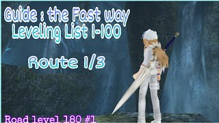 TORAM ONLINE | MY LEVELING LIST 1-100 (Route 1)