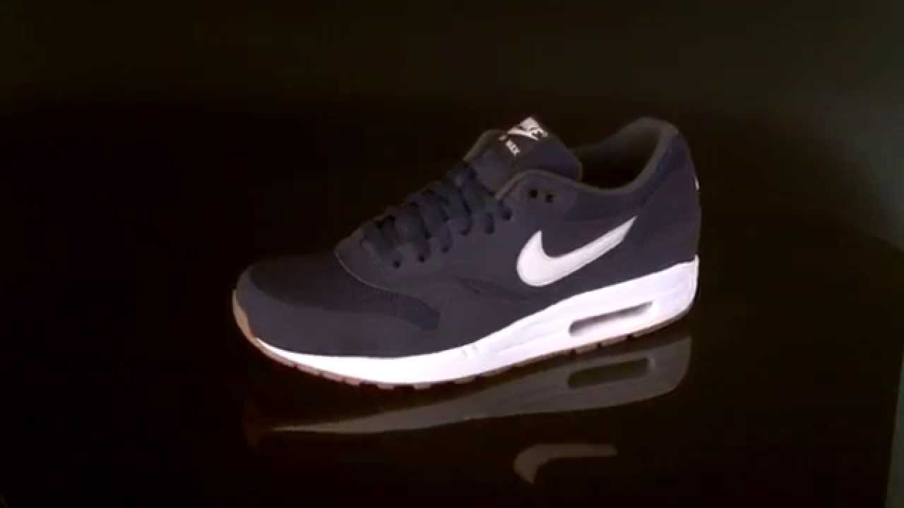 official photos 89670 8f7f5 Nike Air Max 1 Essential Midnight Navy Light Bone 537383 401 - YouTube