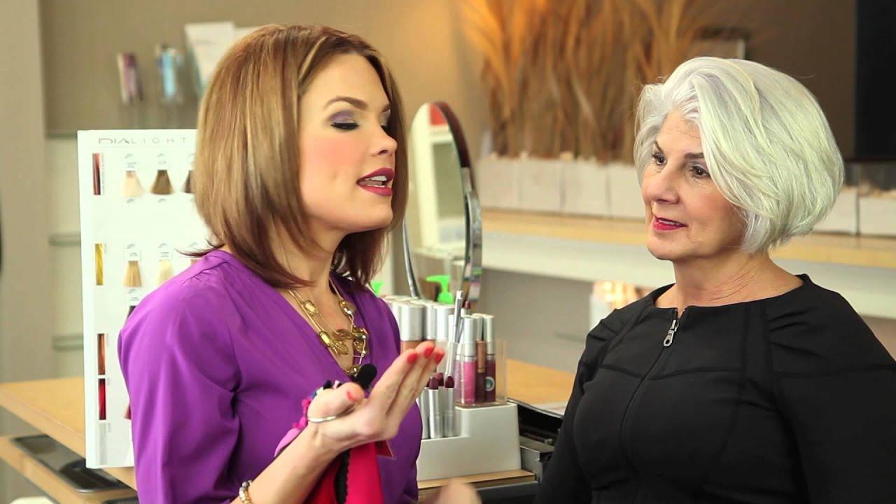 Dress Color Advice For Grey Hair Hair Color Beauty Tips Youtube