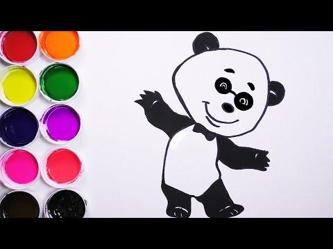 Como Dibujar y Colorear Un Oso De Arco Iris - Dibujos Para Niños ...