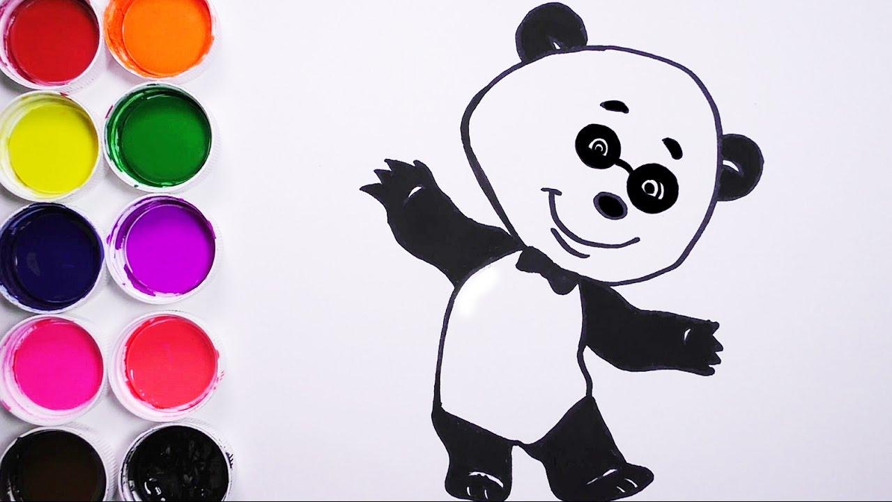 Como Dibujar Y Colorear Un Oso De Arco Iris Dibujos Para Niños