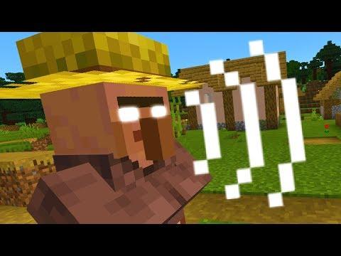 The villagers in this Minecraft village speak differently.. (Creepy)
