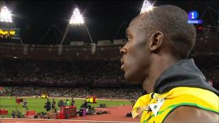 Usain Bolt stopped the interview to hear the U.S. anthem thumbnail
