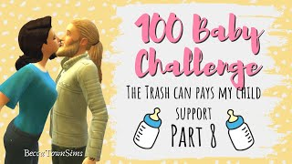 🗑️ The Trashcan Pays My Child Support 🗑️| 100 BABY CHALLENGE (Sims 4): Funfetti Season 1, Episode 8