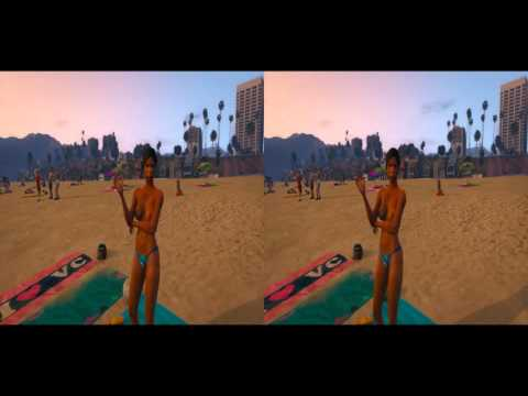 First ever GTA V Gameplay in 3D Side by side Stereoscopic [Google Cardboard]