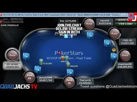 Pokerstars WCOOP-65 Main Event Final Table with Commentary
