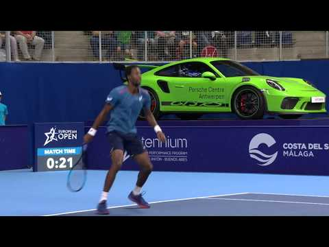 European Open - Highlights semifinal Monfils vs Schwartzman