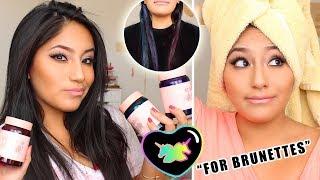 Does LIMECRIME UNICORN HAIR (FOR BRUNETTES) Work On Dark Hair?