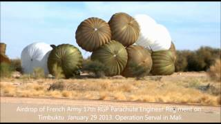 airdrop French army 17th RGP Parachute Engineer Regiment Timbuktu Airport 29 January 2013 ECPAD