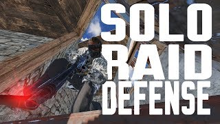 SOLO RAID DEFENSE AFTER INSANE START! -Rust