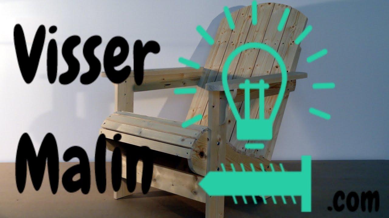 Comment faire une chaise de jardin chaise adirondack