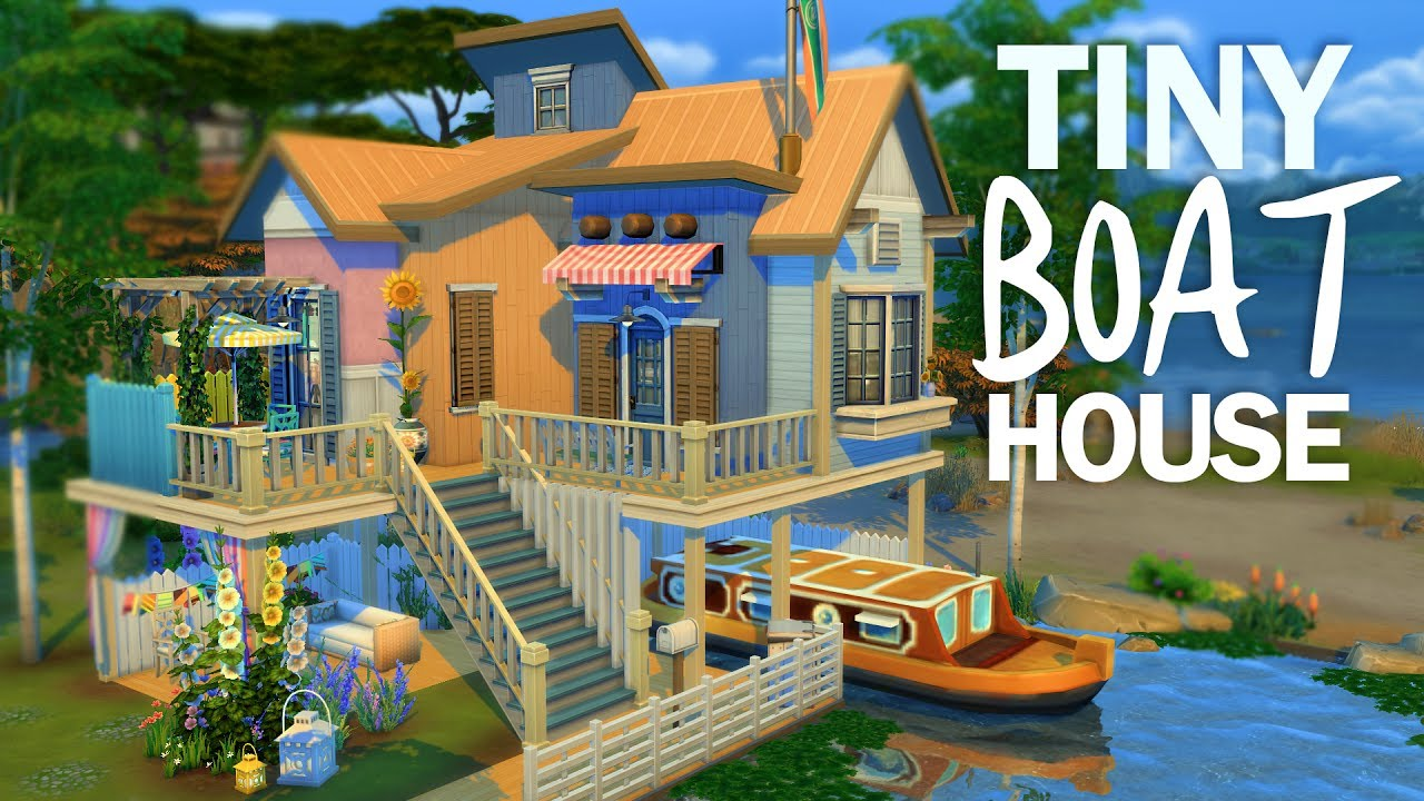 Tiny Boat House The Sims 4 House Building Youtube