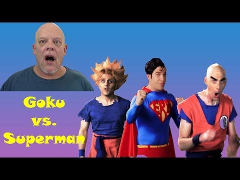 "REACTION TIME | ""ERB - Goku vs. Superman"" - Greatest Cameo Ever!"