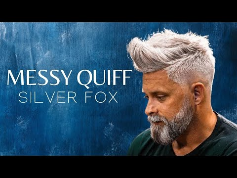 Silver fox . Messy Quif . Men`s Hairstyle Inspiration 2018