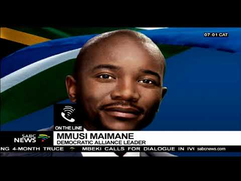 Maimane on DA's billboard 'The ANC is killing us'