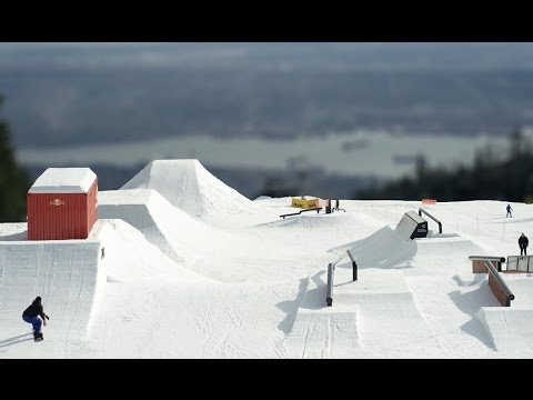 First Look at the Red Bull Slopestyle Course at Grouse Mountain