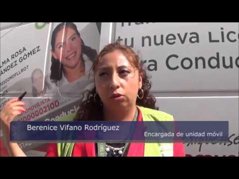Unidad Móvil De Expedición De Licencias De Conducir En Explanada De Valle De Chalco