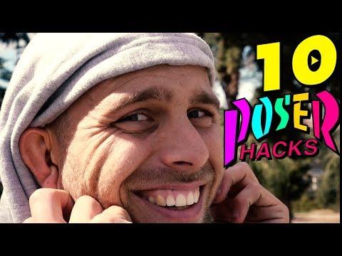 10 POSER SKATE HACKS!
