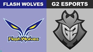 FW vs G2 Tiebreakers - Worlds 2018 Group Stage Day 6 - Flash Wolves vs G2 Esports