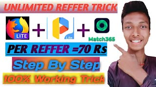 Match365 App Unlimited Trick || Otp Bypass Trick || Unlimited By Effective Reffer ||Step By Step||