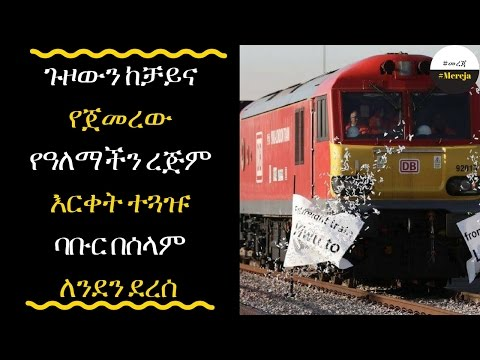 ETHIOPIA - China's First Freight Train To The U.K. Rolls Into London