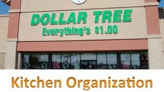 Dollar Tree Kitchen Organization!