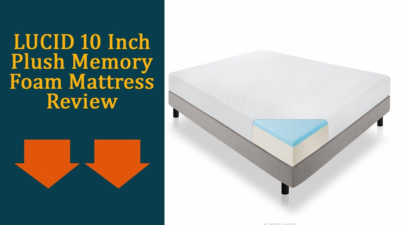 lucid 10 inch plush memory foam mattress review updated