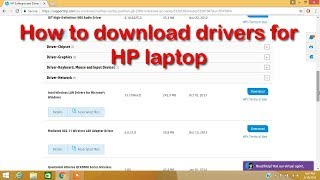 How to download drivers in your HP laptop computer