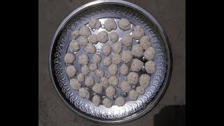 Vadi banane ka tarika in Hindi - Badhi making process   How to make Bari