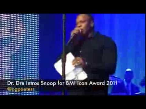 DR. DRE AND SNOOP GIVE HEART FELT SPEECHES AT BMI EVENT 2011