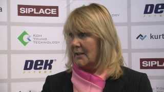 Karen Moore-Watts, Global Marketing Director, DEK at Productronica 2013