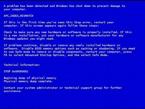 Устранение ошибки Экрана смерти Windows